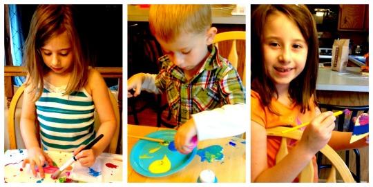 kids doing an art project