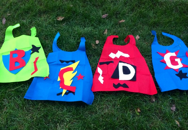 diy capes for a superhero birthday party