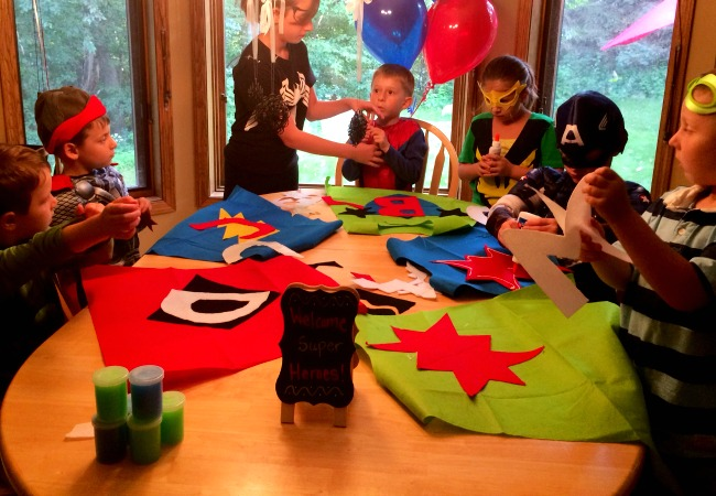 how to make super hero capes for a birthday party
