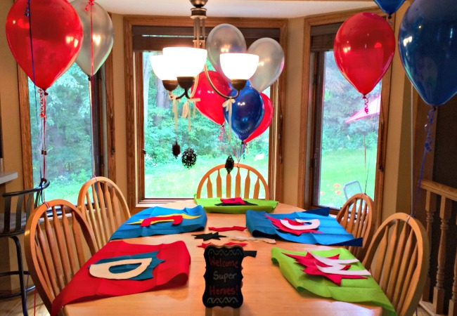 marvel comics birthday party ideas